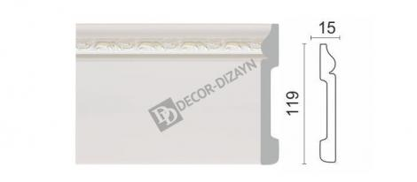 Плинтус DECOR-DIZAYN 004-60 2400x119x15 мм