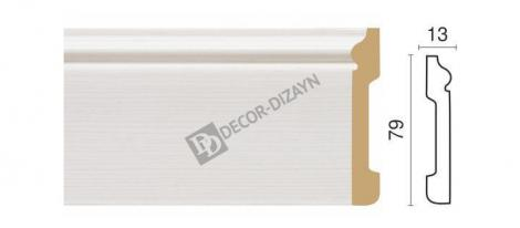 Плинтус DECOR-DIZAYN 005-75 2400x79x13 мм