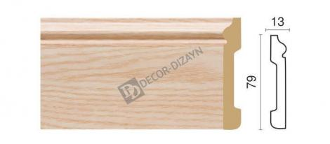Плинтус DECOR-DIZAYN 005-76 2400x79x13 мм