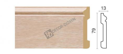 Плинтус DECOR-DIZAYN 005-78 2400x79x13 мм