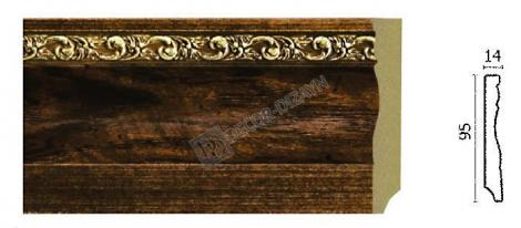 Плинтус DECOR-DIZAYN 153-1084 2400x14x95 мм