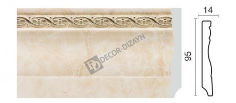 Плинтус DECOR-DIZAYN 153-10 2400x15x95 мм