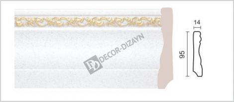 Плинтус DECOR-DIZAYN 153-30G 2400x15x95 мм