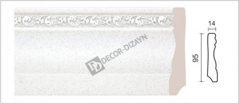 Плинтус DECOR-DIZAYN 153-30S 2400x14x95 мм