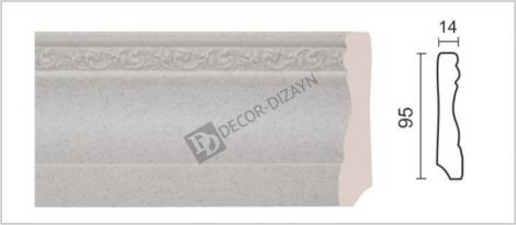 Плинтус DECOR-DIZAYN 153-30 2400x14x95 мм