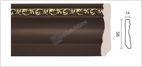 Плинтус DECOR-DIZAYN 153-39G 2400x15x95 мм