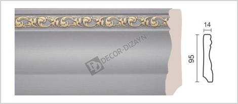 Плинтус DECOR-DIZAYN 153-42G 2400x15x95 мм