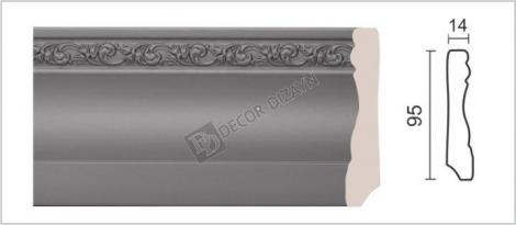 Плинтус DECOR-DIZAYN 153-42 2400x14x95 мм