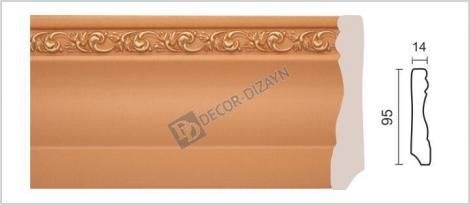Плинтус DECOR-DIZAYN 153-54G 2400x15x95 мм
