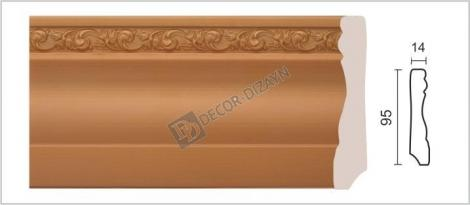 Плинтус DECOR-DIZAYN 153-54 2400x14x95 мм