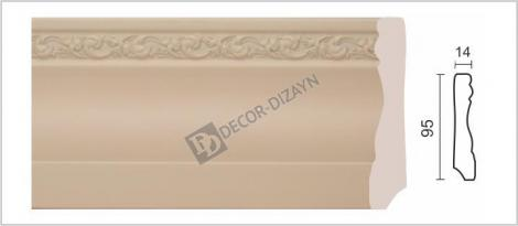 Плинтус DECOR-DIZAYN 153-62 2400x14x95 мм