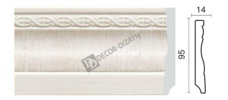Плинтус DECOR-DIZAYN 153-7W 2400x15x95 мм