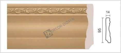 Плинтус DECOR-DIZAYN 153-91G 2400x15x95 мм