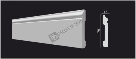 Плинтус DECOR-DIZAYN DD005 2000x13x79 мм