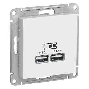 Розетка 2xUSB SCHNEIDER ELECTRIC Atlasdesign Белый