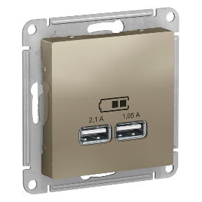Розетка 2xUSB SCHNEIDER ELECTRIC Atlasdesign шампань