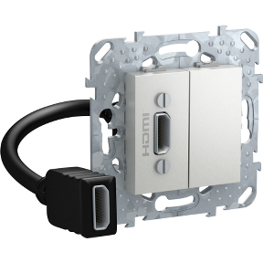 Розетка HDMI SCHNEIDER ELECTRIC Unica Алюминий