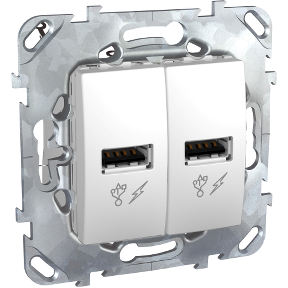 Розетка 2xUSB SCHNEIDER ELECTRIC Unica Белый
