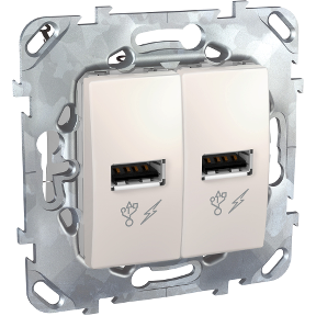 Розетка 2xUSB SCHNEIDER ELECTRIC Unica Слоновая кость