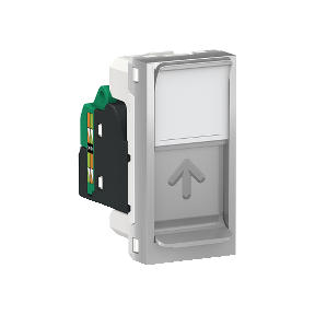 Розетка RJ45 SCHNEIDER ELECTRIC Unica new Алюминий