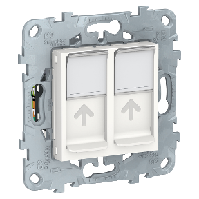 Розетка 2xRJ45 SCHNEIDER ELECTRIC Unica new Белый (rАl 9003)