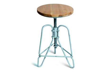 Табурет МОДЕРНУС Industrial Bar Stool Голубой
