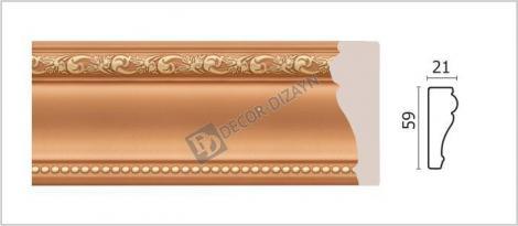 Молдинг DECOR-DIZAYN 161-54G 2400x21x59 мм